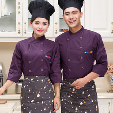 New Style Food Service Multicolor Chef Jacket Restaurant Hotel Kitchen Cook Uniform Clothes Chinese Style Chef Uniform(China)