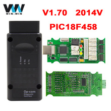Newest Opcom V1.70 2014V With PIC18F458 FTDI FT232RL Chip OBD OBD2 Diagnostic Tool For Opel Op Com Can Bus Diagnostic Cable