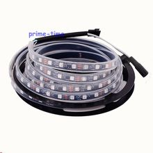 5M WS2811 IC 300LEDs led digital strip Black PCB, DC12V 5050SMD 60LED/M IP67 Silicone Waterproof addressable Dream color