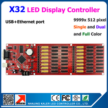 Free shipping full color moving text led display control card support 512*9999pixel X32 LED controller card USB+ Ethernet Port(China)
