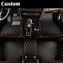 Custom Special car floor mats for Hyundai ix25 ix35 Elantra SantaFe Sonata Solaris Veloster Waterproof leather carpet liners