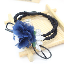 Vigueur Summer Fashon Women Elastic Bands for Hair Gum Floral Headwear Hair Accessories Girls Lace Rubber Band