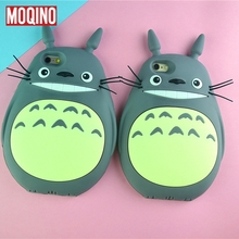 For iPhone 5 5s SE 6 6s 7 8 6 Plus 7Plus 8Plus Totoro Cartoon Silicone Phone Cases Covers