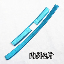 304 Stainless Steel Rear bumper Protector Sill for Suzuki Vitara 2015 2016 2017 Auto parts 2PCS/SET(China)