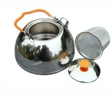 New Arrival Camping Stainless Steel Teapot Camping Kettle Outdoor Cookware 0.65L BRS-TS06(China)