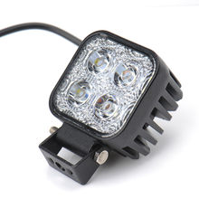 1pc 12w Car LED Offroad Work Light Bar for Jeep 4x4 4WD AWD Suv ATV Golf Cart 12v 24v Driving Lamp Motorcycle Fog Light