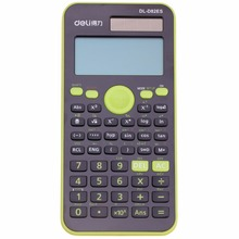 Genuine Desktop Dual Power 252 Kinds Function Scientific Calculator Solar+Battery Power 12 Digital 2-Line LCD Display(China)