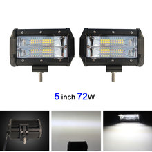 COLIGHT 72W 5 Inch Dual Row LED Light Bar Offroad Work Light For Led Atv Truck SUV 4x4 4WD 12V 24V All Car-styling Automotive(China)