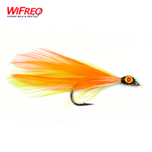 10PCS Wifreo Orange Color Minow Fly Tying Lures Streamer Flies Free Box