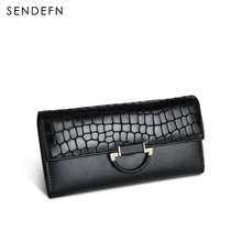 Sendefn Fashion Coin Purse Hot Sale Wallet Quality Leather Women Wallets Card Holder Purse Lady Party Clutch Long Wallet Female(China)