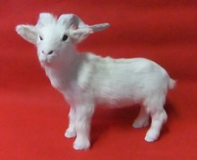 new lovely creative simulation goat toy lovely handicraft goat doll gift about 37x26cm