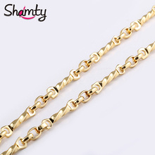Shamty Trendy Light Yellow Gold Color Necklace High Quality Chain Gift Free shipping