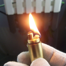 Hot Creative Mini Bullet Butane Flame Lighter Metal Torch Lighter Novelty Gadget Military Addictive Gift Key Accessories NO GAS(China)