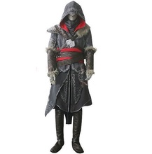 Free shipping EMS/DHL assassins creed 2 II Revelation Ezio Thick costume Halloween cosplay men Custom Made Uniform Suit