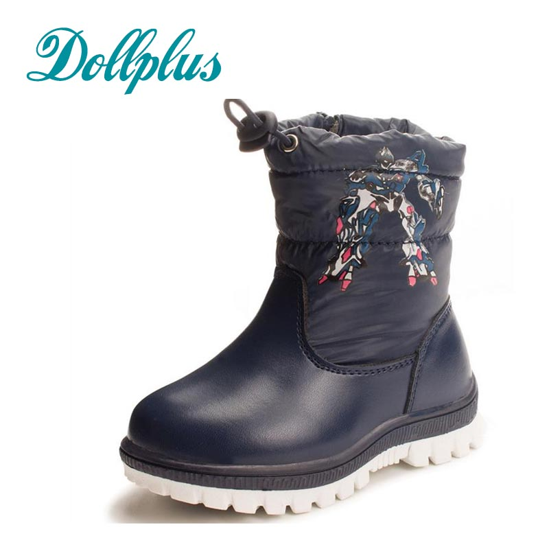 2017 New Winter Baby Boys Warm Snow Boots Fashion Kids Boots Children Waterproof Non-Slip Boy Warm Cotton Shoes Eur Size 22#-27<br>