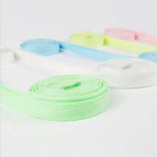 80pairs/lot 1M Fluorescent Shoelace Flat Luminous Light Sneaker Lace Glow In The Dark Shoelaces Boot Light Trainer Shoes(China)