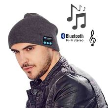 Men Women Outdoor Sport Wireless Bluetooth Earphone Stereo Magic Music MP3 Hat Smart Electronics Hat for iPhone SmartPhone