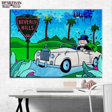 New car Alec monopoly Graffiti art print canvas for wall art decoration oil painting wall painting picture No framed M54