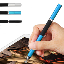 2 in 1 Mini Metal Fine Point Round Thin Tip Capacitive Stylus Pen For iPad 2/3/4/5/air/mini For Amazon Tablet