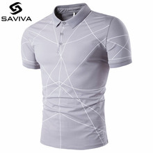 New 2017 Fashion Brand Clothing Polo Homme line Polo Shirt Casual Men Tee Shirt Tops Cotton Slim Fit Polo Shirt XXL