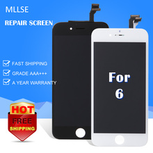 10/PC MLLSE For iPhone 4/5S/5C/6G/6 Plus/6/6S + LCD Screen Replacement Glass Repair Lens Touch Screen Smart Mobile Phone Display