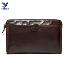 Fashion Business Wallet Men Luxury Brand Clutch Wallets Genuine Cowhide Leather Zipper Purse Handy Bag Long Big Card Hold Wallet