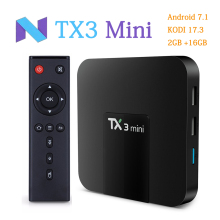 RUIJIE TX3 MINI Android 7.1 Smart TV BOX Amlogic S905W 4K Quad Core TV Box 2GB/16GB KODI 17.3 WIFI LAN Media Player(China)