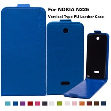 "14 Colors In Stock Bags Business Style Flip PU Leather Case For Microsoft Nokia 225 N225 2.8"" Phone Cover With Vertical Magnetic"