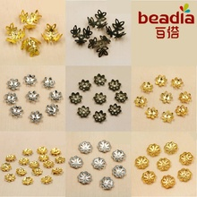 6mm 7mm 9mm 14mm 8*40mm 12*16mm Rhodium/Gold/Bronze Metal Beads Caps Jewelry Findings Components for DIY fashion charm bracelet