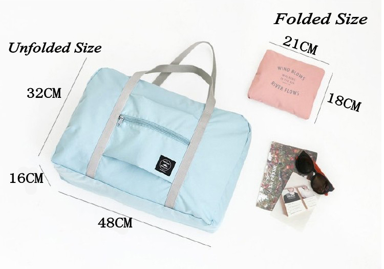 2018 new nylon foldable travel bag unisex Large Capacity Bag Luggage Women WaterProof Handbags men travel bags Free Shipping 1
