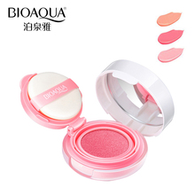 BIOAQUA Brand 3 Colors Cushion Blusher Palette Makeup Mineral Blush Bronzer Powder Sleek Maquiagem Soft Smooth Liquid Make Up(China)