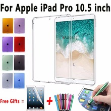 For Apple iPad Pro 10.5 Case Clear UltraThin Transparent Crystal Soft TPU Cover For iPad Pro 10.5 inch Tablet Case for New A1701(China)