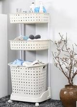 Bathroom shelf bathroom multi-storey plastic storage toilet floor storage rack bath toilet toilet shelf011(China)