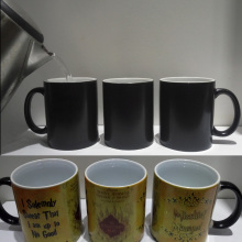 Magic Mugs Harry Hot Drink Cup Color Changing Mug Potter Marauders Map Mischief Managed Wine Tea Cup Creative Gifts