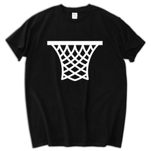 male funny present Basketballer Basket Net Pattern Design Men T-shirt Fashion Casual Print Man's T Shirts Tee Tops Casual tee