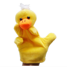 MYMF Cute Baby Child Zoo Farm Animal Hand Sock Glove Puppet Finger Sack Plush Toy NewModel:Duck(China)