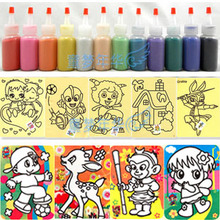 Hot-selling ! sand painting 24pcs with  colored sand 12 bottle set