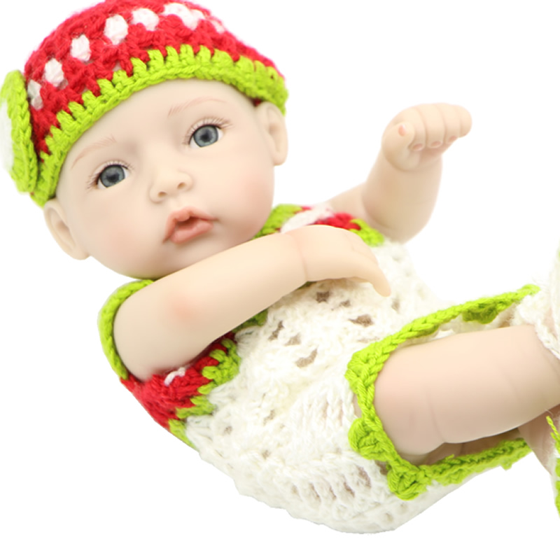 Reborn Baby Alive Girl Dolls Mini 11 Inch Fashion Boneca Full Silicone Vinyl Tiny Newborn Babies Kids Birthday Xmas Gift<br><br>Aliexpress