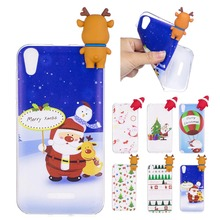 3D Christmas theme Cartoon Elk Soft TPU For Wiko Lenny 4 case Silicon Case For Wiko Lenny 4 mobile phone case Back Cover coque(China)