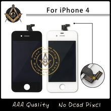 No Dead Pixel DHL Shpping For Black & White Color Assembly Screen Replacement Display Touch Screen LCD For iPhone 4 4S