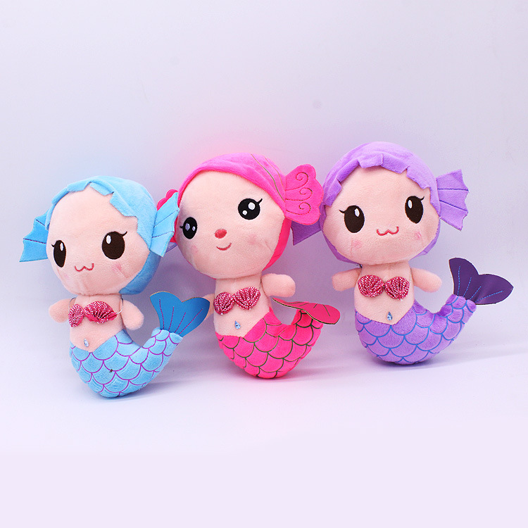 2015 Cute Plush Sea-maid Mermaid Princess Stuffed Crytal Toys Baby Girls Dolls Soft Plush Toy Doll Cute Baby Chrismas Gift<br><br>Aliexpress