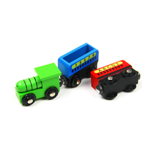 P120 Freeshipping New Hot English alphanumeric small train early education educational toys for wood Thomas track(China)