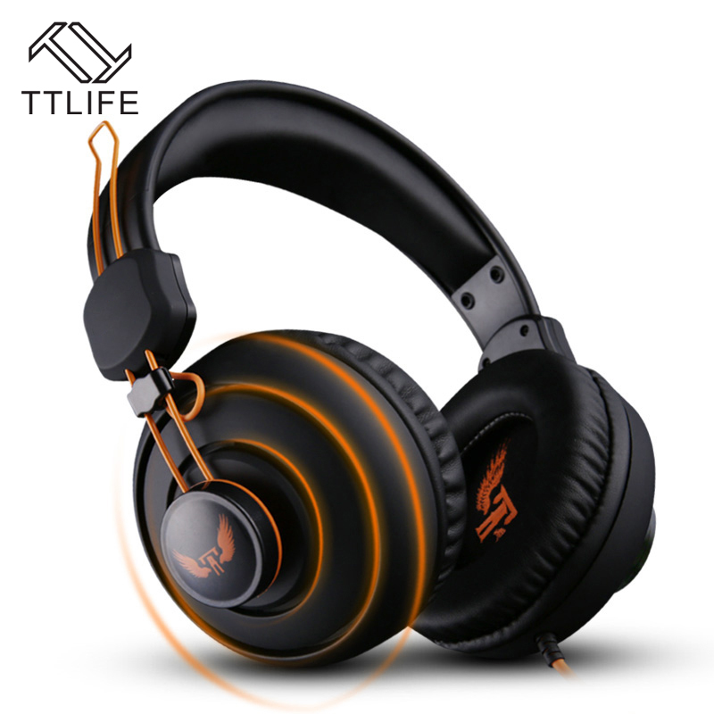 Hottest TTLIFE Gaming Headset Stereo Sound 2.4m Wired Headphone Voice control with Hidden Microphone for Video/Computer Game<br><br>Aliexpress