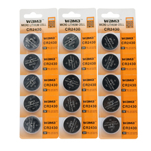20pcs/4pack Wama CR2430 3V Button Cell DL2430 KECR2430 ECR2430 L20 Lithium Computer MotherBoard Car Remote Coin Battery New