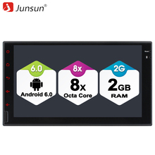 "Junsun 7"" 2 din Android Car DVD radio Player Universal for Toyota GPS Navigation 4G LTE SIM Network Eight Core 32GB autoradio"