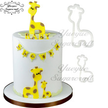 Yueyue sugarcraft Mummy and Baby Giraffe Cutter set Cake Fondant Cutter Cake Tools Cutter(China)