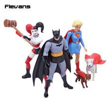 "DC COMICS Designer Series Darwyn Cooke Batman / Supergirl / Harley Quinn PVC Action Figure Collectible Model Toy 7"" 18cm(China)"