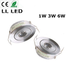 1W 3W 6W MINI Round 3W High Power LED Recessed Ceiling Down Light Lamps LED Downlights for Living Room Cabinet Bedroom