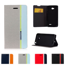 For LG Optimus L70 L 70 65 LS620 Case D315 D325 D320 D329 D320N MS323 Series III Flip Phone Leather Cover For L65 Dual D285 D280(China)