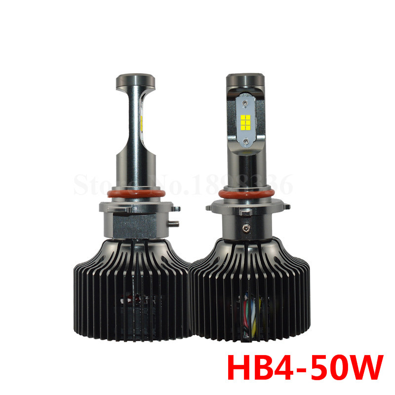 2pcs Super Bright For CSP chips HB4 9006 LED Headlight replacement Kit 50W 5000LM per LED bulb P7 Plus series with driver<br><br>Aliexpress
